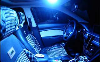 Замена ламп накаливания на светодиоды в плафоне салона автомобиля