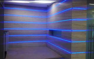 Освещение спальни светодиодными лентами