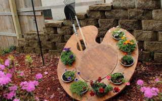 Декоративная цветочная палитра для дачи (фото, мастер-класс, пошагово)