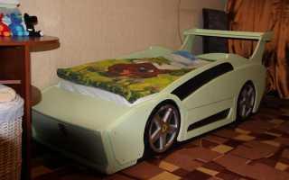 """Кровать """"Феррари"""" для мальчика своими руками (мастер-класс, 38 фото)"""