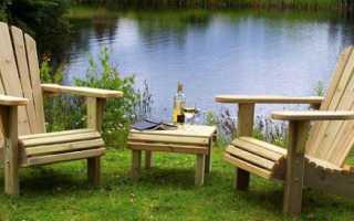 Деревянный стул на дачу своими руками