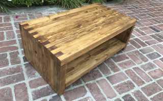 Журнальный столик со столешницей из деревянных обрезков. Первый раз своими руками