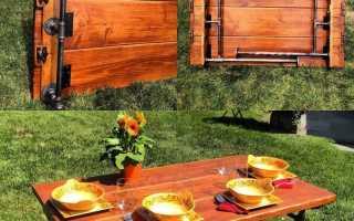 Простой самодельный раскладной стол для пикника