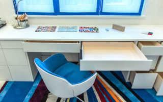 Подоконник-стол для небольших комнат своими руками