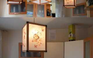 Самодельные напольные и подвесные светильники своими руками в одном стиле