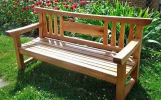 Садовая скамейка на дачу своими руками