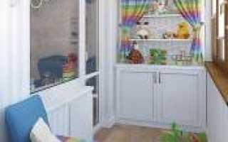Лоджия – детская комната: как сделать, фото
