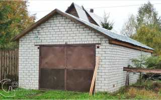 Дачный гараж своими руками