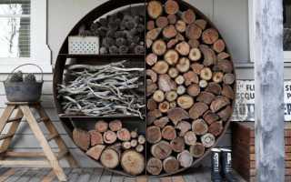 Укладка дров (фото, невероятные идеи)