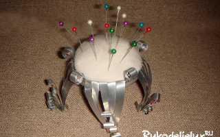 Игольница из двух крышек своими руками (фото, пошагово)