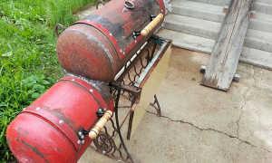 Чудо-коптильня из старой машинки Singer и газовых баллонов своими руками