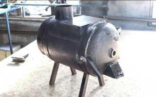 Интересная печь с крышкой из газового баллона своими руками