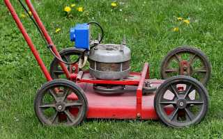 Самодельная электрическая газонокосилка