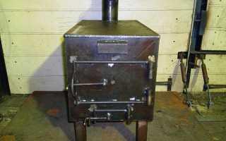 Печка для гаража (фото, чертежи, видео)
