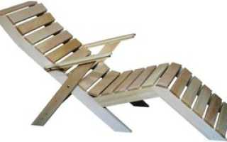 Деревянный мобильный шезлонг на дачу (чертеж)
