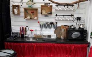 Мобильная летняя мини-кухня на дачу