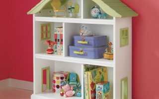 Полочка в виде домика для домашней утвари. Мастер-класс