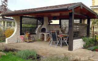 Беседка и летняя кухня под одной крышей (фото, чертежи)