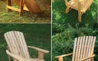 Самодельное садовое деревянное кресло для отдыха на даче