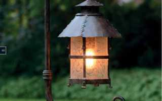 Уличный деревянный фонарь своими руками