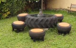 Самоделки из старых шин. Старые шины в дело: несколько полезных в хозяйстве идей